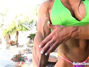 weird fit Angel demonstrates us her thick fuckbox and jewel