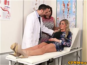 Cfnm female dominance Lissa love gives physician a bj