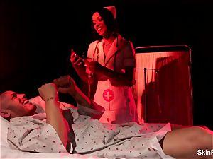 Behind the vignettes with stunning nurse flesh Diamond
