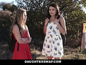 DaughterSwap - blond cutie Caught On cam and plumbed