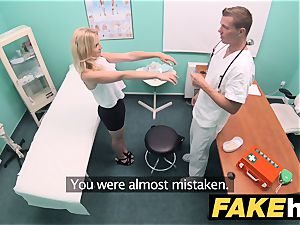 fake health center small light-haired Czech patient health test
