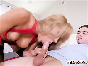 crazy older mom and step humps boss companion during game hardcore hot cougar smashed Delivery fellow
