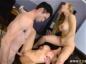 Nicole Aniston and Nikki Benz plumbed from the rear