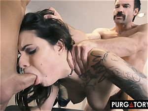 PURGATORY I let my wifey screw two men in front of me