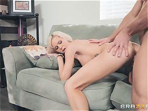 Smoking super-steamy blonde Astrid starlet inhaling pecker