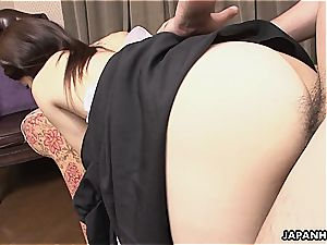 asian maid made to pulverize her tormentor like mad