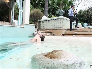 Pool fucking pouch deep insane moist sweetie Lyra Law