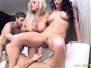 Alektra Blue boinking with her scorching pal Nina Elle