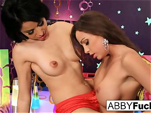 Abigail Mac has roughly great all girl fun Lily Evans