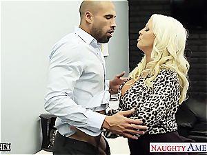 nasty teacher Alura Jensen leaps on her member for a ride