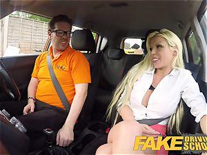 faux Driving school Barbie Sins filthy oral pleasure