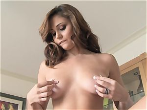 fleshy Ariana Marie erotic solo onanism