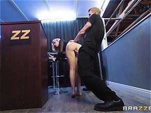 Bailey Brooke gets jiggish with the dangled bouncer