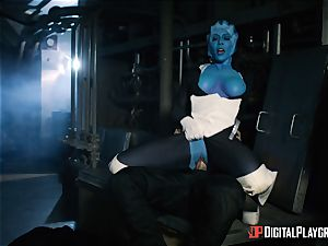 Space pornography parody with hot alien Rachel Starr