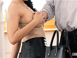 exposed audition - chesty Russian honey romped in audition