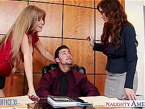Falling gimp to the office milfs