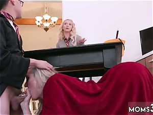 milf catches me draining off Halloween off the hook With A threeway