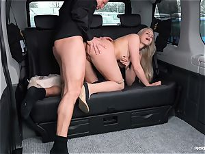 pounded IN TRAFFIC - steaming backseat fuck-a-thon with Czech platinum-blonde
