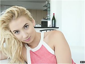Baby sister Sierra swallows her bro's super-hot goopy stream
