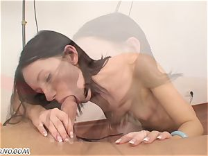 skinny modest woman is well-prepped for hard plowed on casting